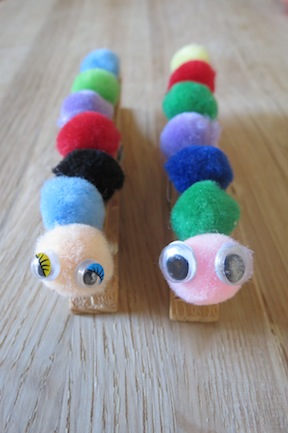 Animal Crafts For Kids Peg Caterpillar