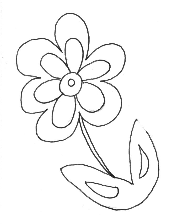 free paper flowers coloring pages