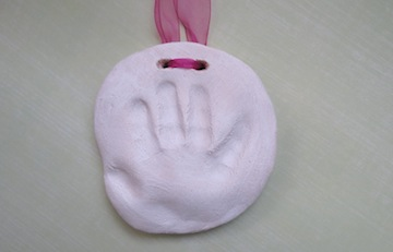 Craft ideas handprints on baby handprints salt dough plaque