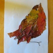 Robin Fall Craft Pattern
